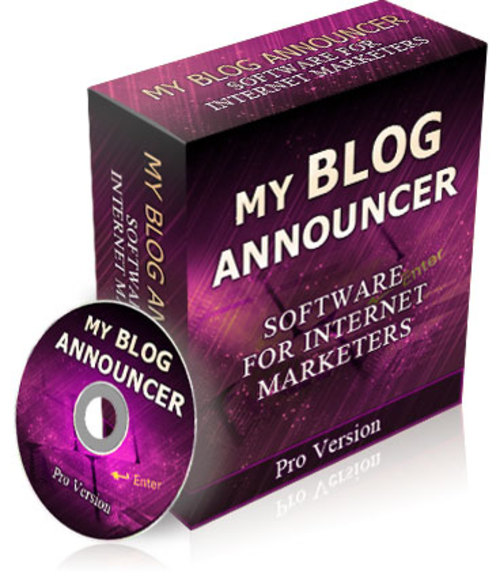 Product picture **HOT SOFTWARE** My Blog Announcer Pro Version - With PLR